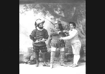 MM. Lucien Fugère, Bienfait et Vauthier, dans 'Le Petit Poucet '