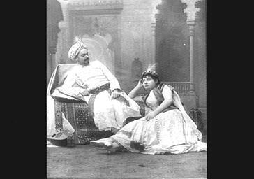 M. Morlet et Jeanne Thibault, dans 'Ali Baba'