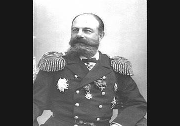 L'amiral Avelan, chef de l'escadre russe