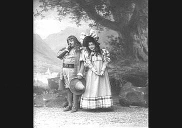 Lucien Fugère, baryton et Mariette Sully, dans 'Mariette'