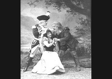 Mme Bernaërt, Lucien Noël et Gabriel Soulacroix, baryton, dans 'Rip'
