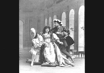 Mmes Bernaërt et Largini, Lucien Noël, dans 'Panurge'