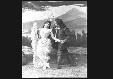 Mlle Riganti et Gabriel Soulacroix, Baryton, dans 'Rip'