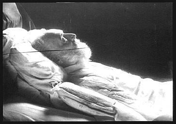Victor Hugo, sur son lit de mort