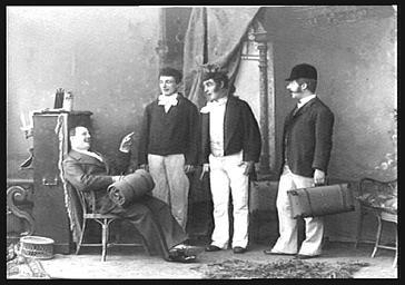 Paul, Pierre et Jean Regnard, dans 'L'Hôtel Godelot'
