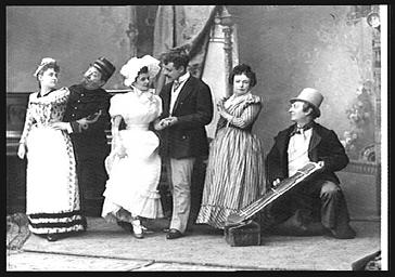 MM. Violet, Victorin et Bellot, Emma George, Virginie Rolland et Mme Becker, dans 'la Petite Poucette'