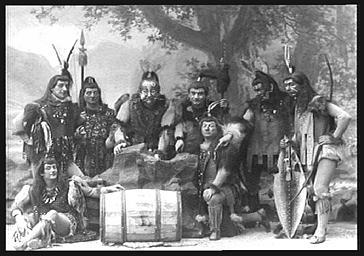 Groupe des sauvages, dans 'Le Pays de l'or'