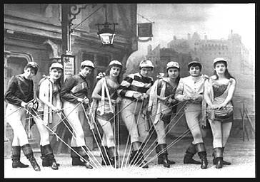Groupe des jockeys, dans 'Le Pays de l'or'