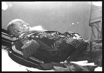 Don Pedro, empereur du Brésil, sur son lit de mort