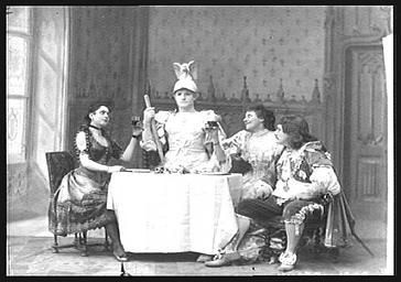 Mlles Feriel et Mlle Litini et MM. Clerget et Frédéric Achard, dans 'La Statue du Commandeur '
