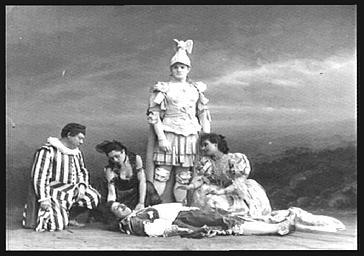 Mlles Feriel et Litini et MM. Clerget, Frédéric Achard et Désiré, dans 'La Statue du Commandeur '