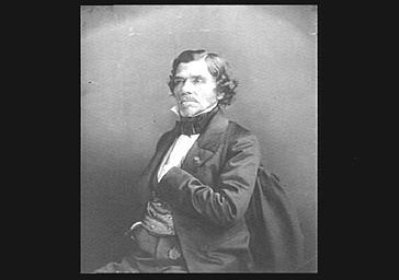 Eugène Delacroix , portrait gravé