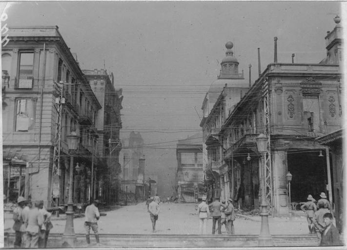 Incendie de Salonique (18-20 août 1917). Place de la liberté