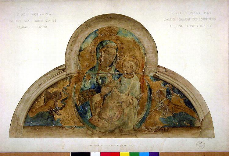 La Vierge à l'Enfant et deux anges