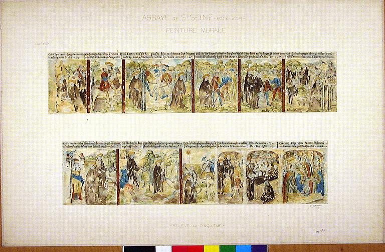 peinture monumentale : vie de saint Seine