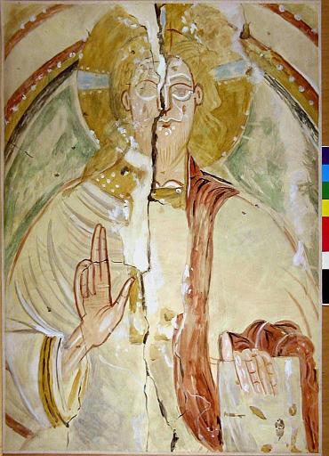 Le Christ en majesté, détail du buste