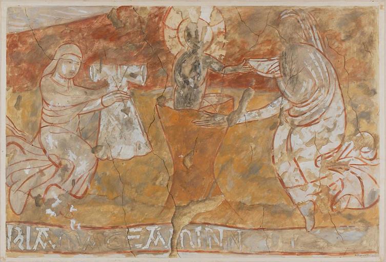 Peinture monumentale : la Visitation, le Bain de l'enfant, Saint Michel terrassant le dragon, la Crucifixion, le Tombeau du Christ, la Résurrection de Lazare