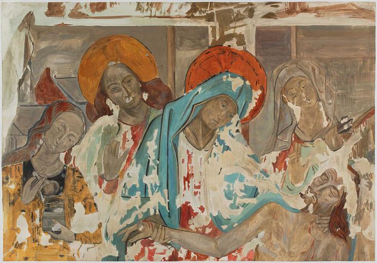 Détail de la déploration du Christ