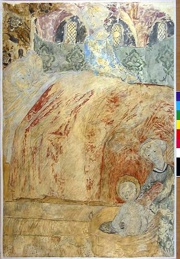 Détail de la Légende de saint Révérend et saint Genoulph