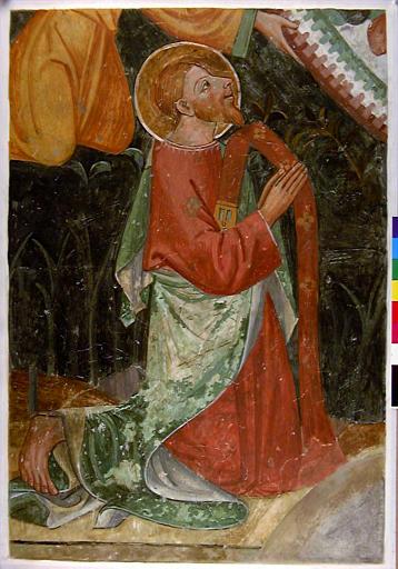 Saint Matthieu à genoux en dessous de la Vierge en gloire