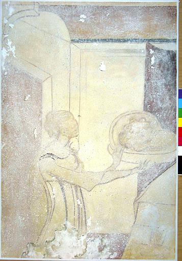 Le festin d'Hérode, détail, Salomé apportant la tête de saint Jean Baptiste