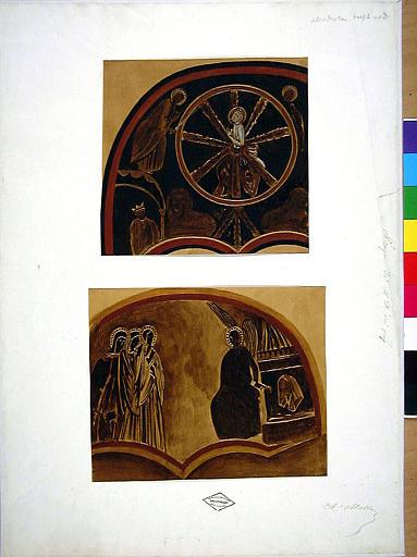 Ensemble du décor peint du bras Nord du transept.
