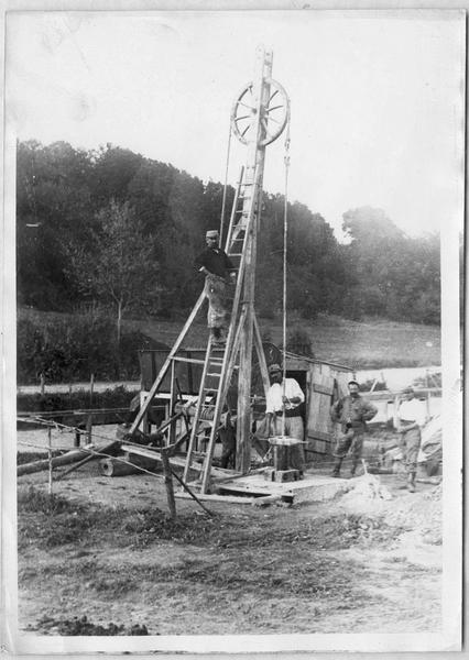 Forage d'un puits le 26 septembre