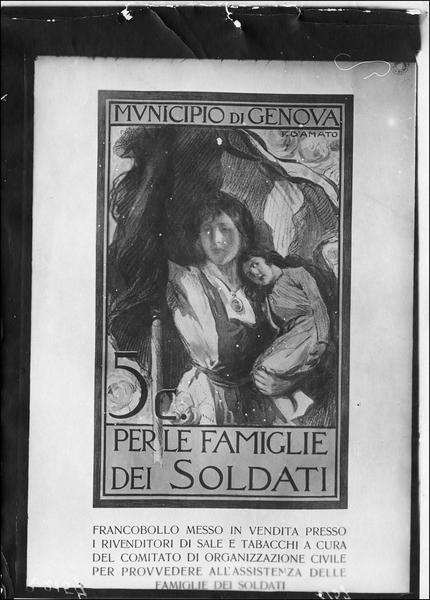 Affiche italienne pour la famille du soldat