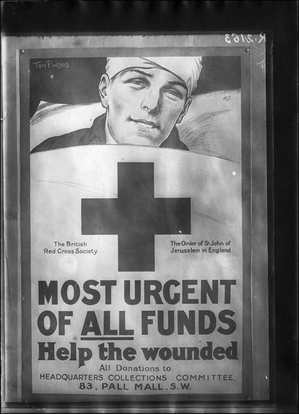 Affiche anglaise, donations pour la Croix Rouge