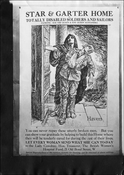 Affiche anglaise, secours aux blessés