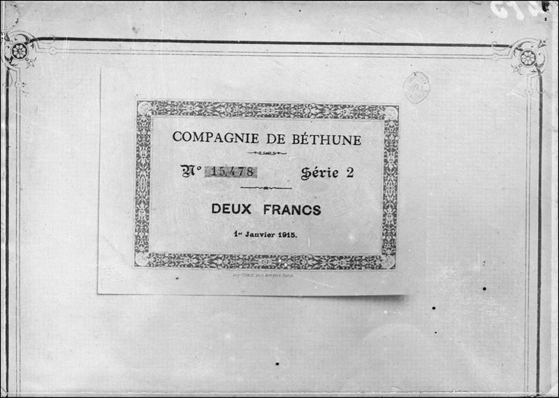 Papier-monnaie de la Compagnie de Béthune