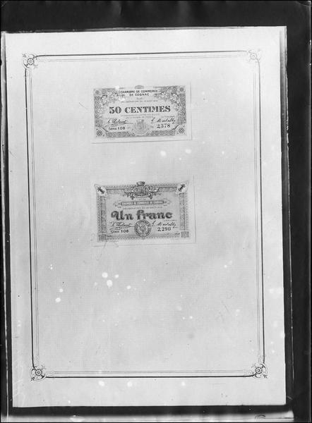 Papier-monnaie de la Chambre de Commerce de Cognac