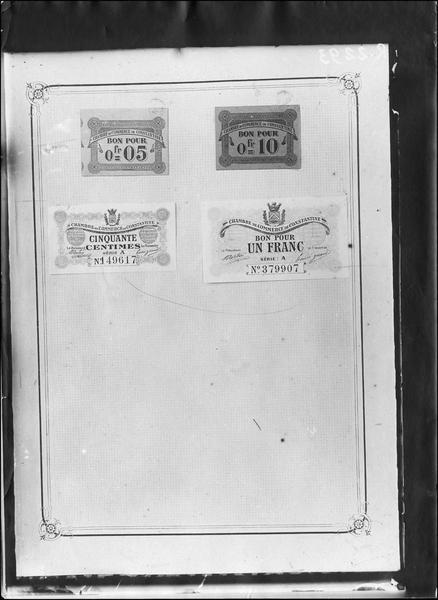 Papier-monnaie de la Chambre de Commerce de Constantine