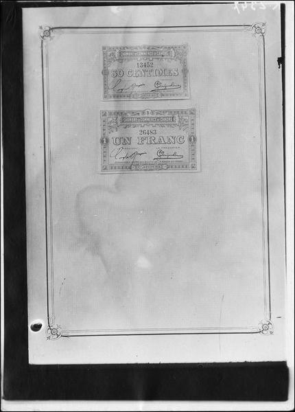 Papier-monnaie de la Chambre de Commerce de Cahors