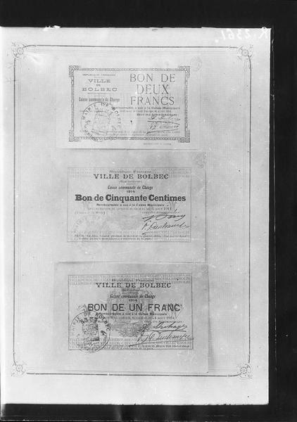 Papier-monnaie de la ville de Bolbec