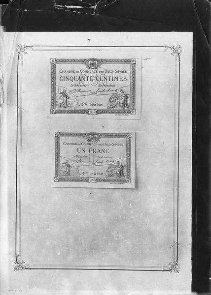 Papier-monnaie de la Chambre de Commerce des Deux-Sèvres