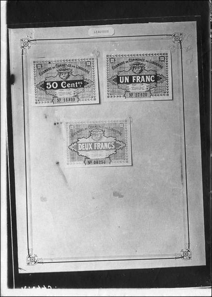 Papier-monnaie de la Chambre de Commerce de Libourne