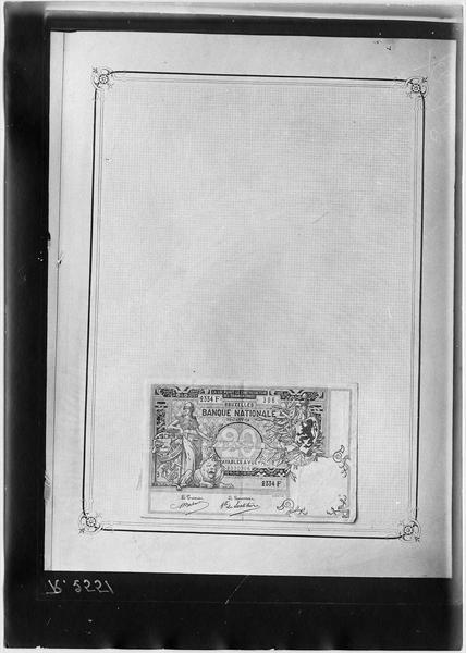 Papier-monnaie de la Banque nationale de Bruxelles, Belgique