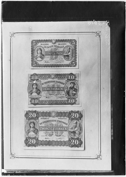 Papier-monnaie de la banque Suisse, Eidgenössische Staatskasse