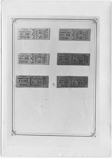 Papier-monnaie de Clermont-Ferrand. Dépôt de prisonniers