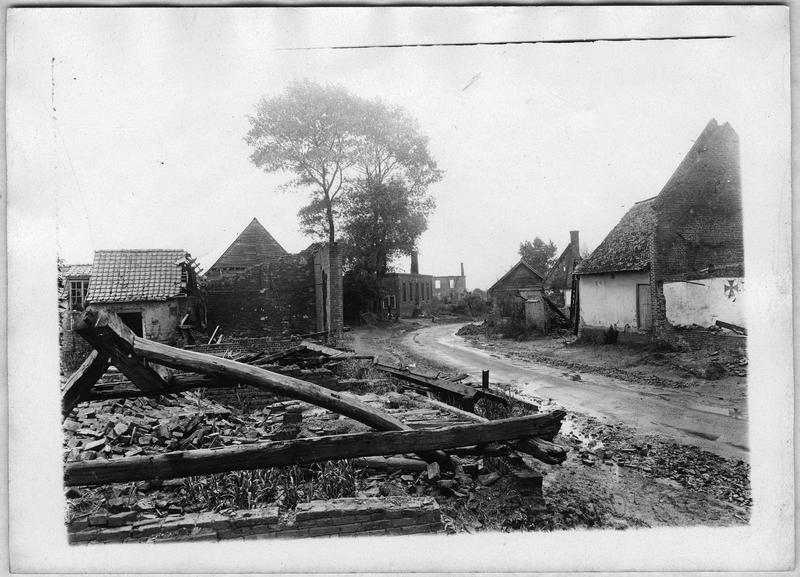 Aspect du village de Cressy détruit par les Allemands