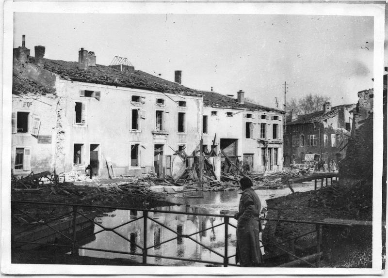 Les dégâts du bombardement aérien du 17 février 1918