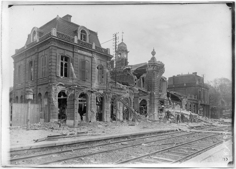 La gare Saint-Roch, façade extérieure