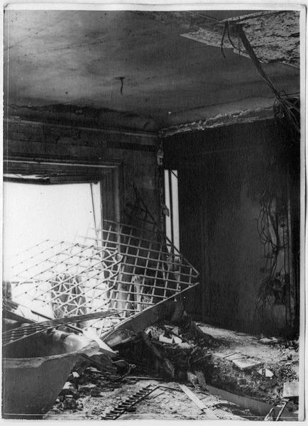 Obus tombés le 5 août 1918 à Paris, 52 rue Bassano