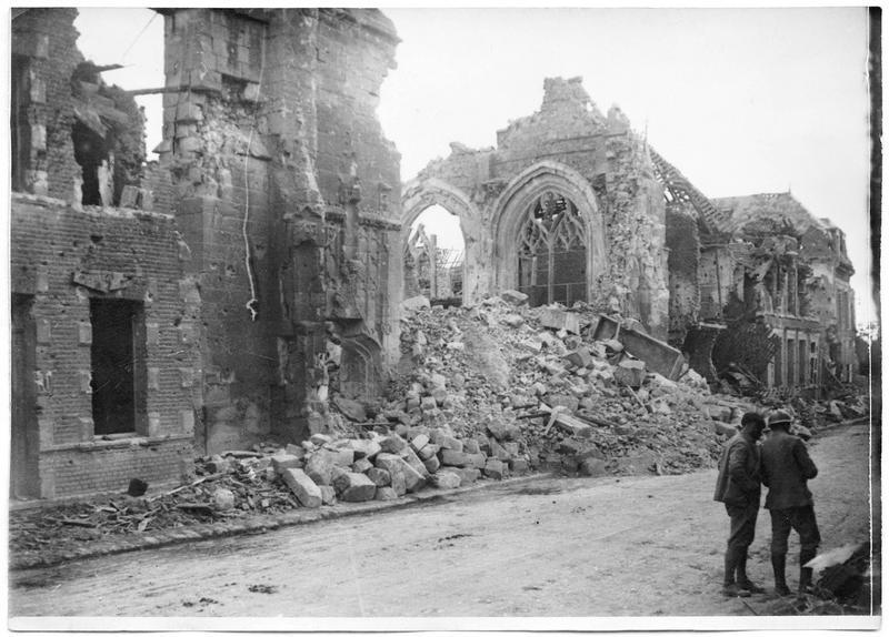 L'église bombardée
