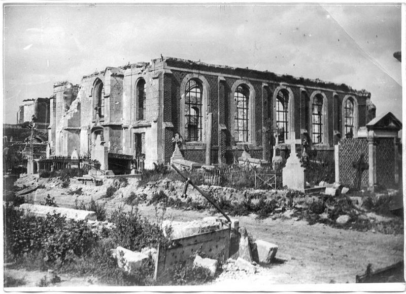 L'église et le cimetière détruits
