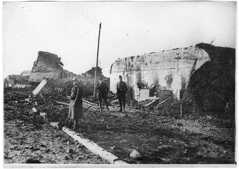 Défenses côtières allemandes, batterie Tirpitz, la chaussée de la batterie