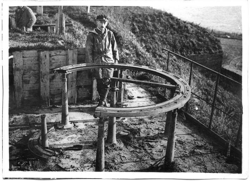 Défenses côtières allemandes, la table de visée de la batterie Kaiserin