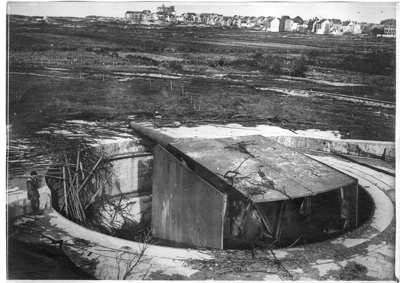 Défenses côtières allemandes, batterie de Knokke, ensemble de la pièce