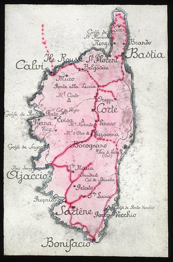 Carte de la troisième partie du voyage